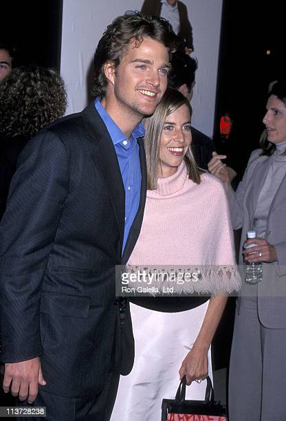 Actor Chris O'Donnell and wife Caroline Fentress attend The Bachelor Hollywood Premiere on November 3 1999 at Pacific's Cinerama Dome in Hollywood...