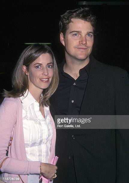 Actor Chris O'Donnell and wife Caroline Fentress attend The Man Who Had All the Luck Opening Night Performance on May 1 2002 at the American Airlines...