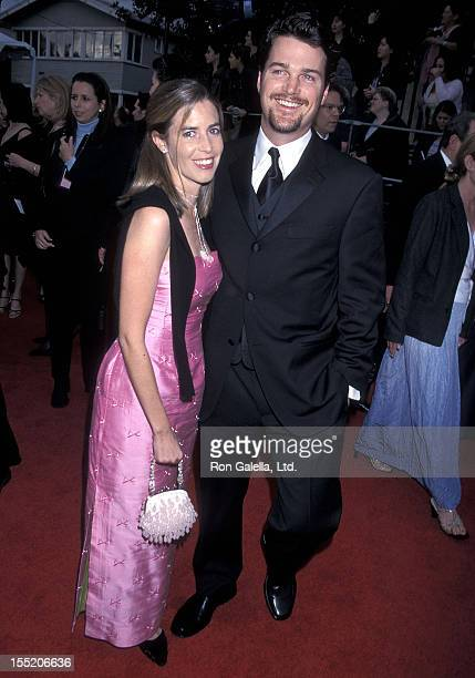 Actor Chris O'Donnell and wife Caroline Fentress attend the Seventh Annual Screen Actors Guild Awards on March 11 2001 at Shrine Exposition Center in...