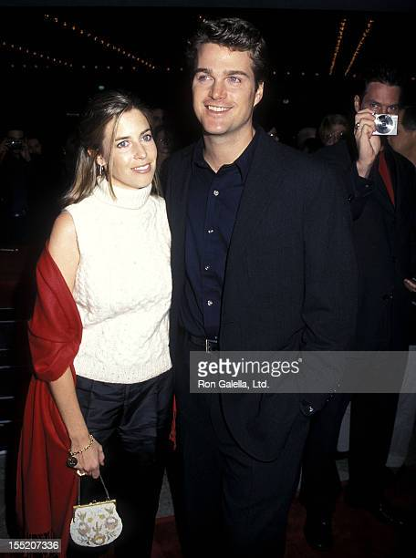 Actor Chris O'Donnell and wife Caroline Fentress attend the Vertical Limit Century City Premiere on December 3 2000 at Loews Cineplex Century Plaza...