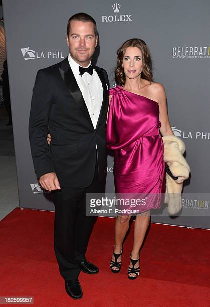 Actor Chris O'Donnell and wife Caroline Fentress attend the Walt Disney Concet Hall's 10th Anniversary Gala at the Walt Disney Concert Hall on...