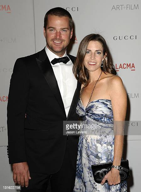 Actor Chris O'Donnell and wife Caroline Fentress attends the LACMA inaugural Art Film Gala at LACMA on November 5 2011 in Los Angeles California