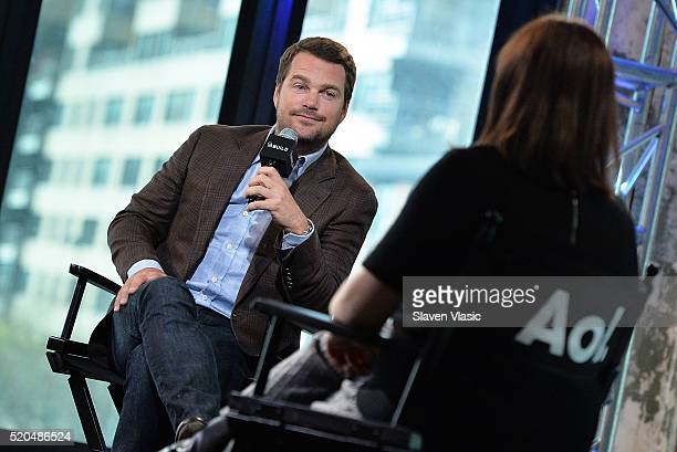 Actor Chris O'Donnell discusses his hit series NCISLos Angeles at AOL Build at AOL Studios In New York on April 11 2016 in New York City