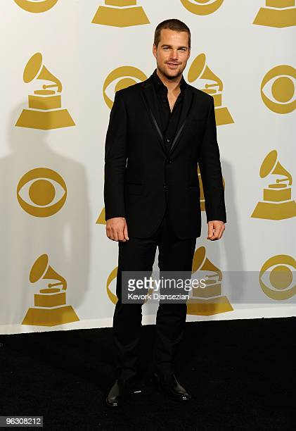 Actor Chris O'Donnell poses in the press room during the 52nd Annual GRAMMY Awards held at Staples Center on January 31 2010 in Los Angeles California