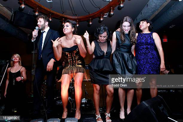 Actor Chris O'Dowd actresses Jessica Mauboy Miranda Tapsell Shari Sebbens and Deborah Mailman attend 'The Sapphires' after party during the 2012...