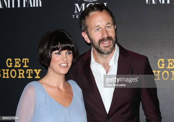 Actor Chris O'Dowd and his Wife Dawn O'Porter attend the premiere of EPIX original series Get Shorty at Pacfic Design Center on August 10 2017 in...