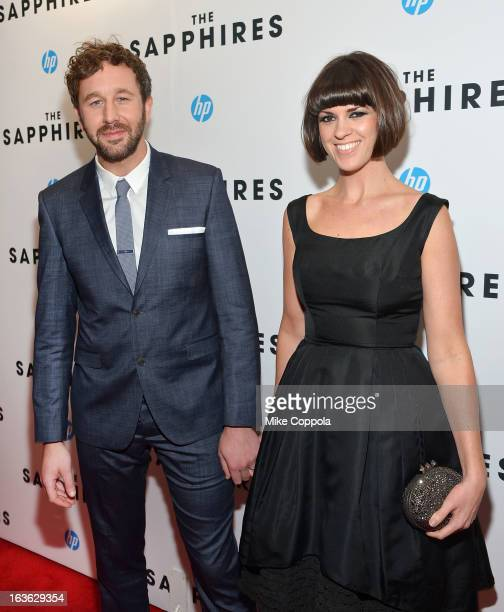 Actor Chris O'Dowd and wife Dawn Porter attend The Sapphires screening at The Paris Theatre on March 13 2013 in New York City