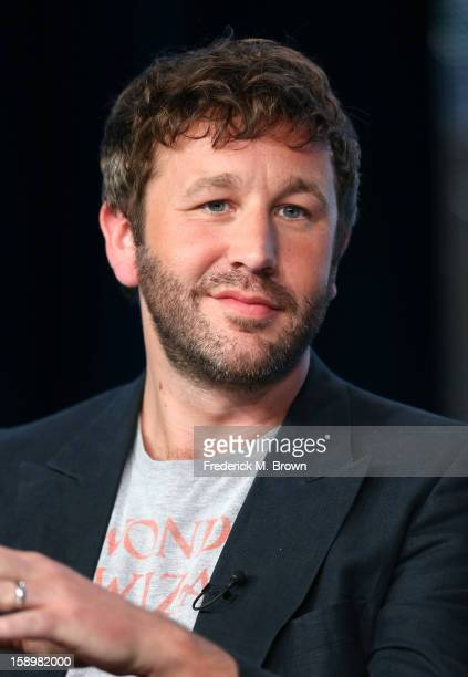 """Actor Chris O'Dowd speaks onstage during the """"Family Tree"""" panel discussion at the HBO portion of the 2013 Winter TCA Tourduring 2013 Winter TCA Tour..."""