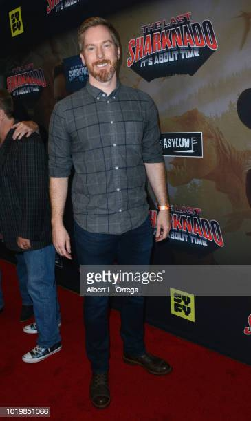 Actor Chris Owen arrives for the Premiere Of The Asylum And Syfy's 'The Last Sharknado It's About Time' held at Cinemark Playa Vista on August 19...