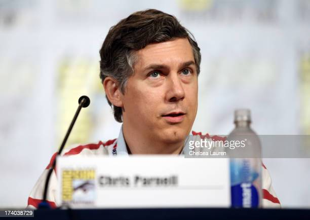 Actor Chris Parnell speaks onstage at the Archer screening and QA during ComicCon International 2013 at Hilton San Diego Bayfront Hotel on July 19...