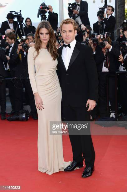 Actor Chris Pine and Dominique Piek arrives at Electrolux at Opening Night of The 65th Annual Cannes Film Festival at the Palais des Festivals on May...