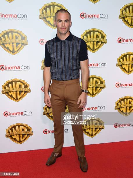 Actor Chris Pine arrives at CinemaCon 2017 Warner Bros Pictures Invites You to The Big Picture at The Colosseum at Caesars Palace during CinemaCon on...