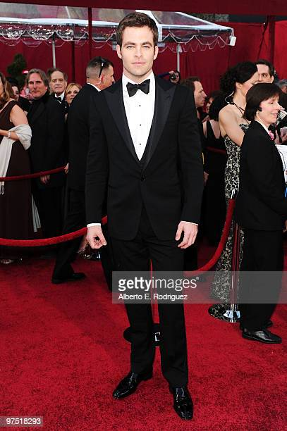 Actor Chris Pine arrives at the 82nd Annual Academy Awards held at Kodak Theatre on March 7 2010 in Hollywood California
