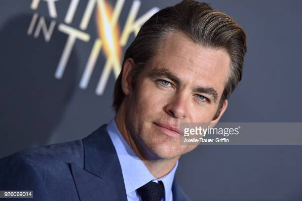 Actor Chris Pine arrives at the premiere of Disney's 'A Wrinkle In Time' at El Capitan Theatre on February 26 2018 in Los Angeles California