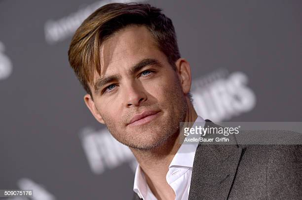 Actor Chris Pine arrives at the premiere of Disney's 'The Finest Hours' at TCL Chinese Theatre on January 25 2016 in Hollywood California