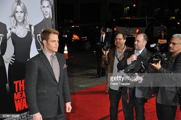 Actor Chris Pine arrives at the premiere of This Means War held at Grauman's Chinese Theater.