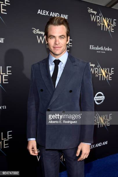 Actor Chris Pine arrives at the world premiere of Disney's 'A Wrinkle in Time' at the El Capitan Theatre in Hollywood CA Feburary 26 2018