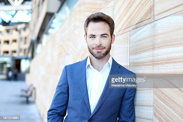 Actor Chris Pine at the Star Trek Into Darkness photo call on April 23 2013 in Sydney Australia