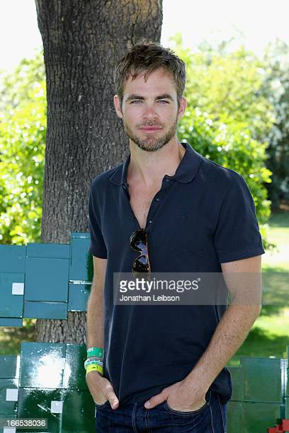 Actor Chris Pine attends LACOSTE LVE 4th Annual Desert Pool Party on April 13 2013 in Thermal California