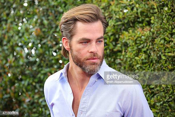 Actor Chris Pine attends the 12th Annual John Varvatos Stuart House Benefit at John Varvatos on April 26 2015 in Los Angeles California