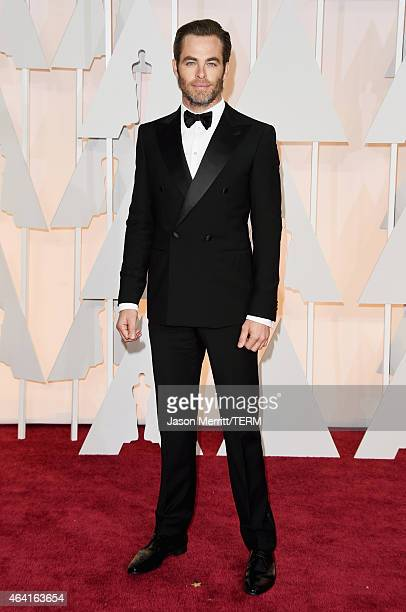 Actor Chris Pine attends the 87th Annual Academy Awards at Hollywood Highland Center on February 22 2015 in Hollywood California