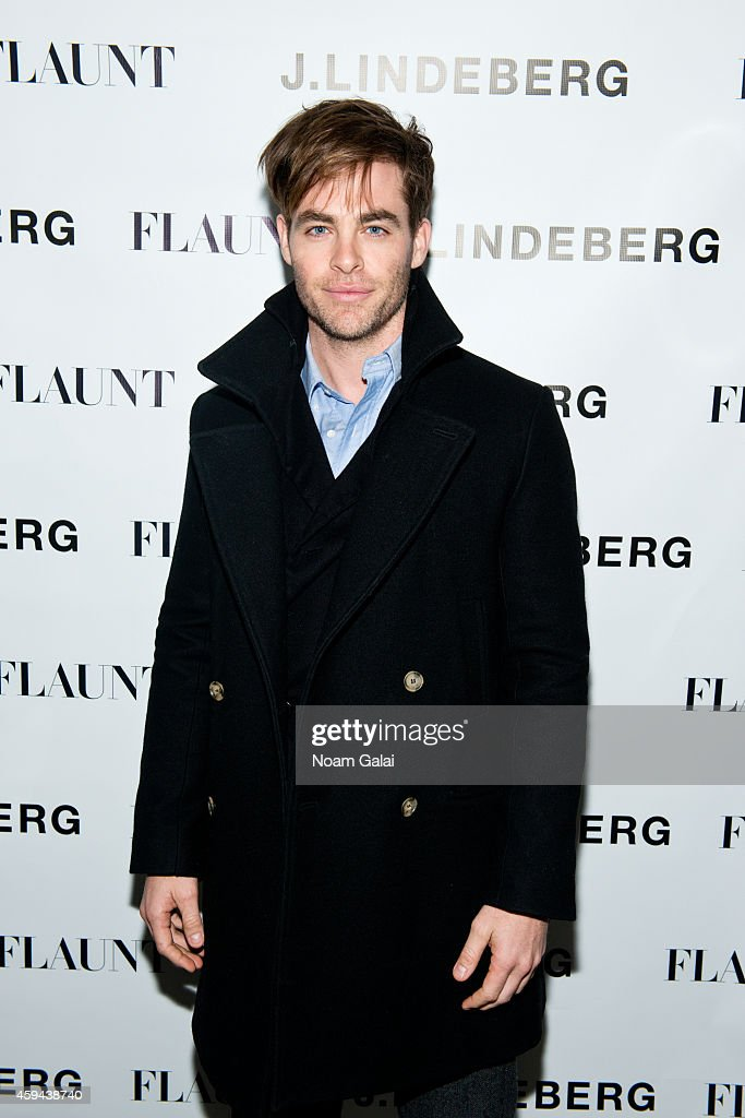 Actor Chris Pine attends the Celebration of Chris Pine's cover of Flaunt Magazine at Beautique on November 22, 2014 in New York City.