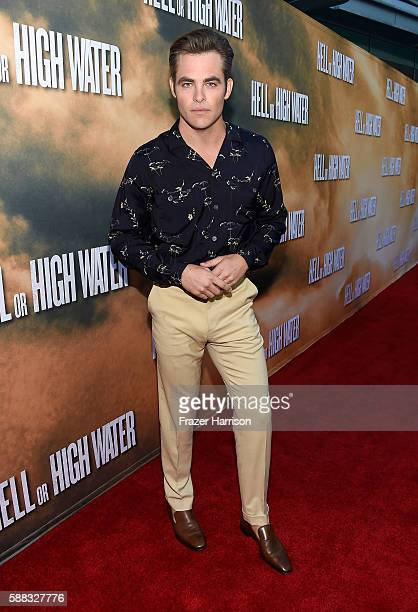 Actor Chris Pine attends the Los Angeles Red Carpet Screening Of 'Hell Or High Water' at ArcLight Cinemas on August 10 2016 in Hollywood California
