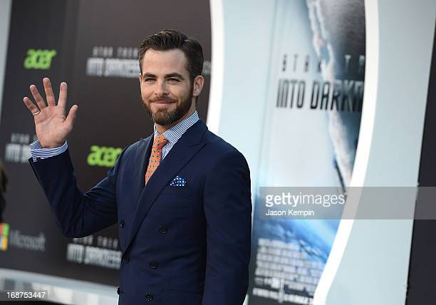 Actor Chris Pine attends the premiere of Paramount Pictures' 'Star Trek Into Darkness' at Dolby Theatre on May 14 2013 in Hollywood California
