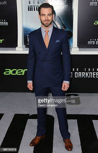 Actor Chris Pine attends the premiere of Paramount Pictures' 'Star Trek Into Darkness' at the Dolby Theatre on May 14 2013 in Hollywood California