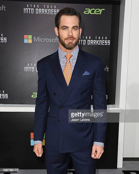 Actor Chris Pine attends the premiere of 'Star Trek Into Darkness' at Dolby Theatre on May 14 2013 in Hollywood California