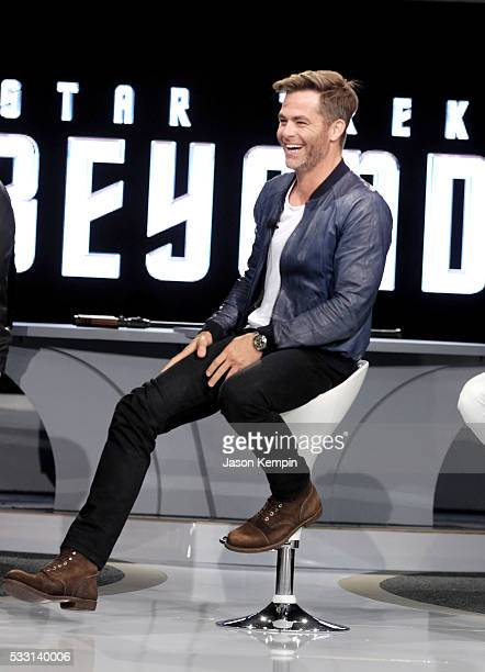 Actor Chris Pine attends the Star Trek Beyond Fan Event at Paramount Pictures Studios on May 20 2016 in Hollywood California