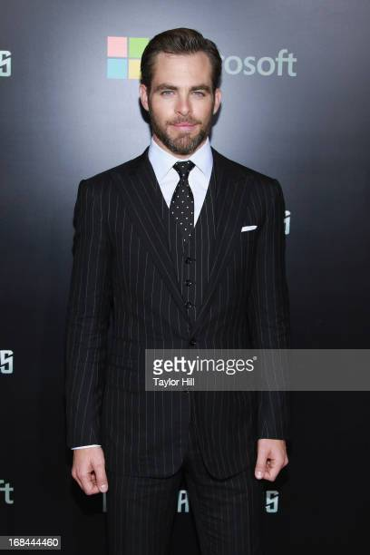 Actor Chris Pine attends the 'Star Trek Into Darkness' screening at AMC Loews Lincoln Square on May 9 2013 in New York City