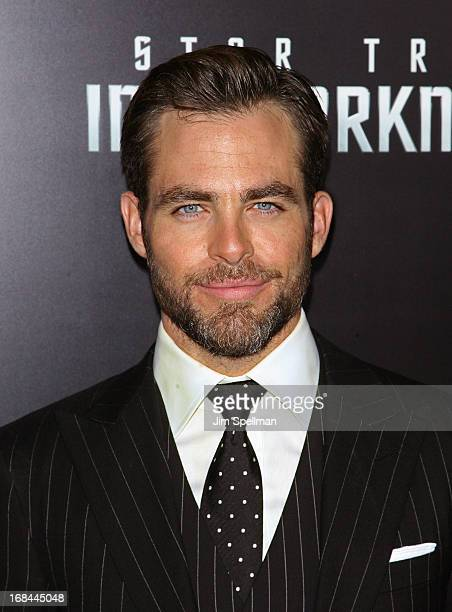 Actor Chris Pine attends the Star Trek Into Darkness screening at AMC Loews Lincoln Square on May 9 2013 in New York City