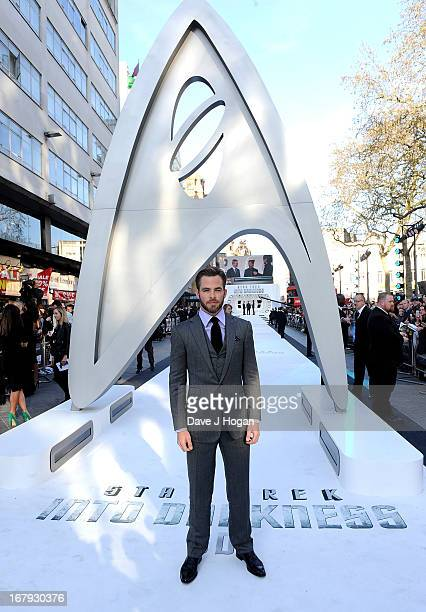 Actor Chris Pine attends the Star Trek Into Darkness UK Premiere at the Empire Leicester Square on May 2 2013 in London England