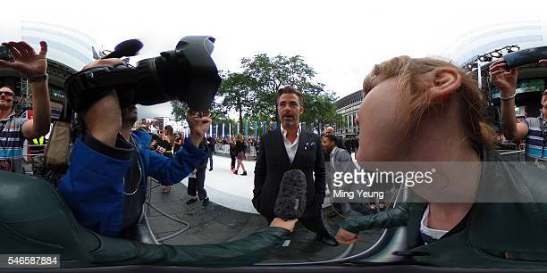 Actor Chris Pine is interviewed by the Getty Images Entertainment Video team at the UK Premiere of Paramount Pictures Star Trek Beyond at the Empire...