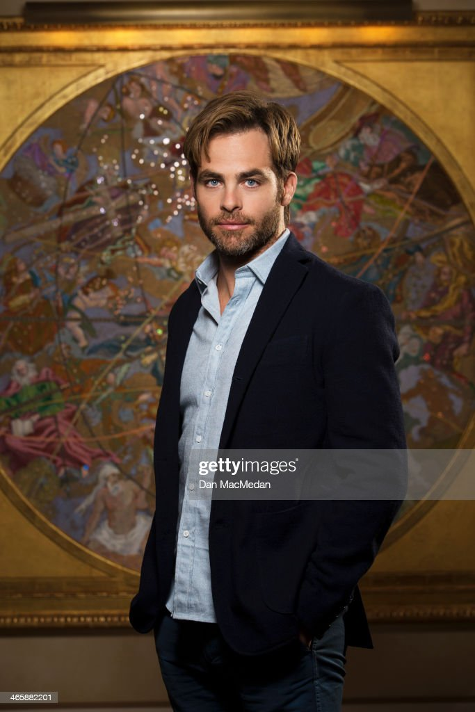 Actor Chris Pine is photographed for USA Today on January 10, 2014 in Beverly Hills, California.