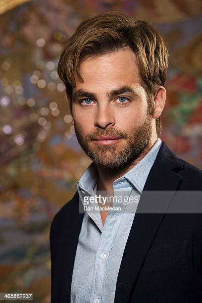 Actor Chris Pine is photographed for USA Today on January 10 2014 in Beverly Hills California