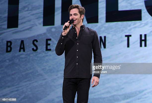 Actor Chris Pine of THE FINEST HOURS took part today in Worlds Galaxies and Universes Live Action at The Walt Disney Studios presentation at Disney's...