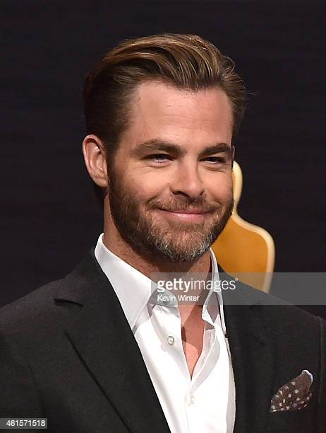 Actor Chris Pine takes the podium to announce the nominees for the 87th Academy Awards Nominations Announcement at the AMPAS Samuel Goldwyn Theater...