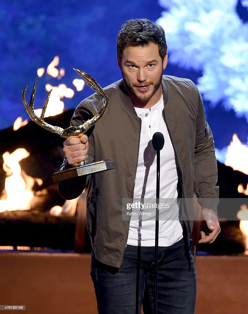 Actor Chris Pratt accepts the Guy of the Year award onstage during Spike TV's Guys Choice 2015 at Sony Pictures Studios on June 6, 2015 in Culver City, California.