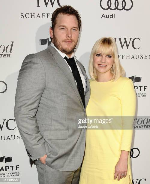 Actor Chris Pratt and actress Anna Faris attend the 2nd annual Reel Stories Real Lives benefiting the Motion Picture Television Fund at Milk Studios...