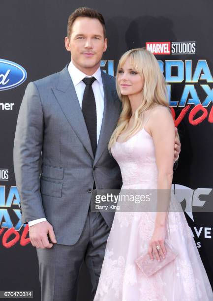 Actor Chris Pratt and actress Anna Faris attend world premiere of Disney and Marvel's' 'Guardians Of The Galaxy 2' at Dolby Theatre on April 19 2017...