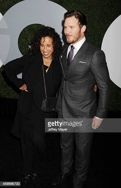 Actor Chris Pratt and actress Rae Dawn Chong arrive at the 2014 GQ Men Of The Year Party at Chateau Marmont on December 4 2014 in Los Angeles...