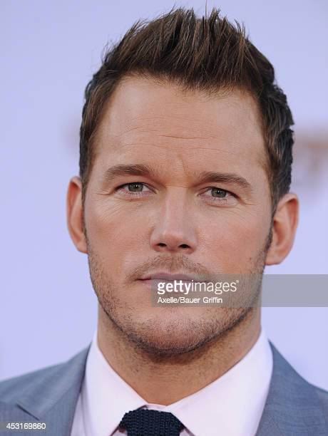 Actor Chris Pratt arrives at the Los Angeles premiere of 'Guardians Of The Galaxy' at the El Capitan Theatre on July 21 2014 in Hollywood California
