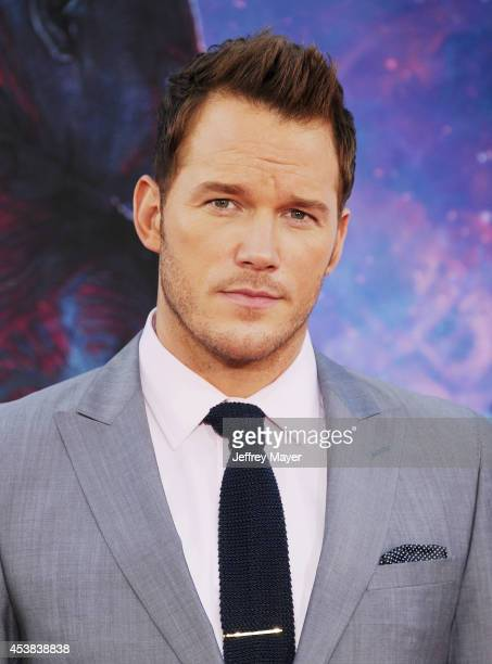 Actor Chris Pratt arrives at the Los Angeles premiere of Marvel's 'Guardians Of The Galaxy' at the El Capitan Theatre on July 21 2014 in Hollywood...