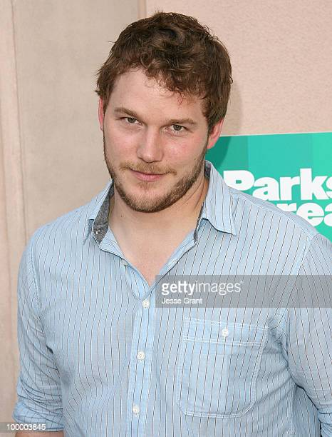 Actor Chris Pratt arrives at the Parks And Recreation Emmy Screening at the Leonard H Goldenson Theatre on May 19 2010 in Los Angeles California