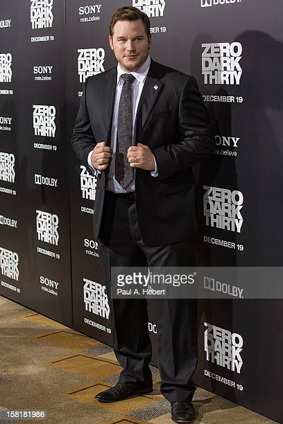 """Actor Chris Pratt arrives at the premiere of Columbia Pictures' """"Zero Dark Thirty"""" held at the Dolby Theatre on December 10, 2012 in Hollywood,..."""
