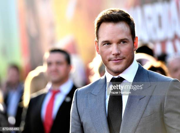 Actor Chris Pratt arrives at the premiere of Disney and Marvel's 'Guardians Of The Galaxy Vol 2' at Dolby Theatre on April 19 2017 in Hollywood...