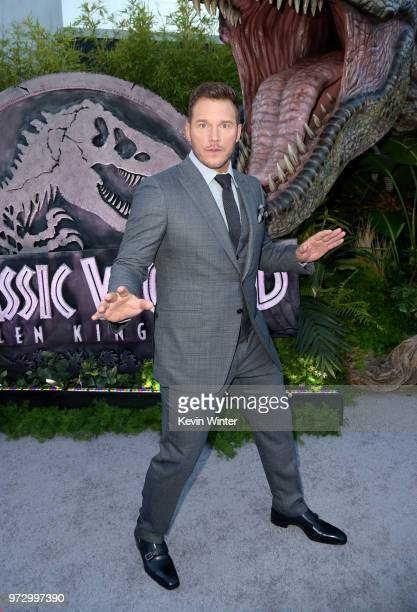 Actor Chris Pratt arrives at the premiere of Universal Pictures and Amblin Entertainment's Jurassic World Fallen Kingdom at the Walt Disney Concert...