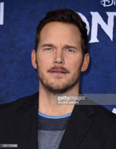 "Actor Chris Pratt arrives for Disney Pixar's ""Onward"" premiere at El Capitan theatre in Hollywood on February 18, 2020."